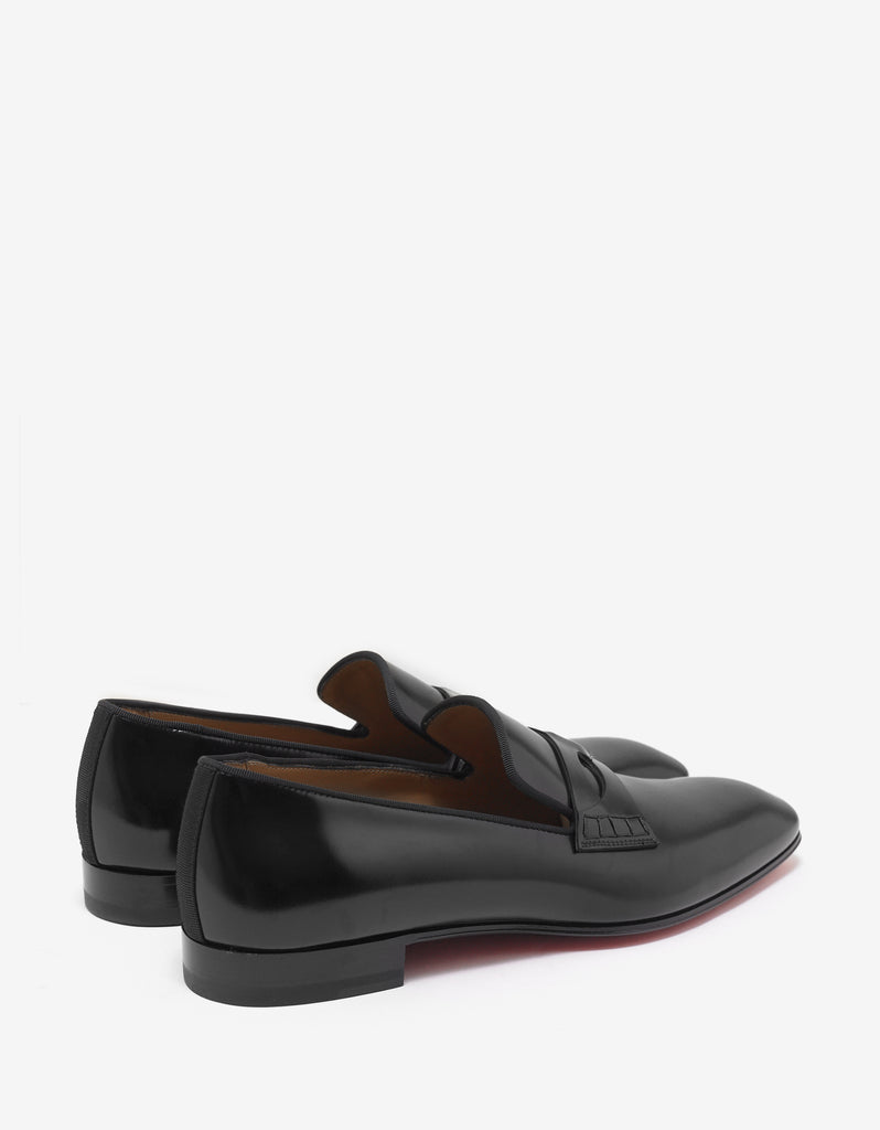 Magicien Flat Black Leather Loafers