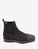 Melon Spikes Flat Brown Suede Chelsea Boots