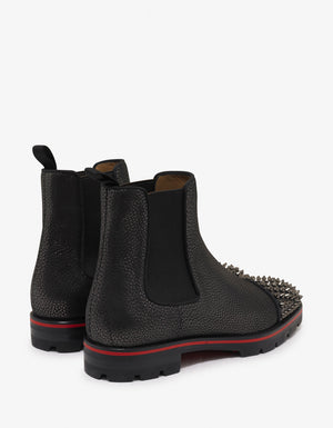 Melon Spikes Flat Cracked Glitter Chelsea Boots
