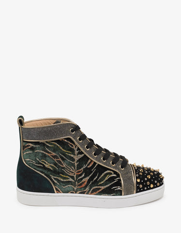 Christian Louboutin Milkylou Bengal Velvet High Top Trainers