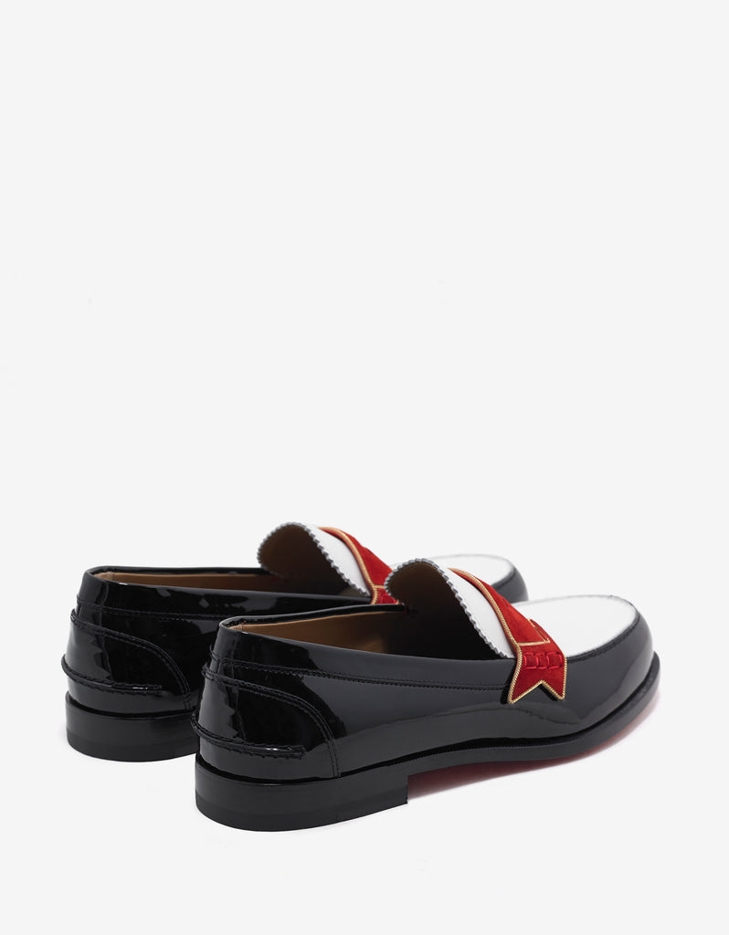 Monono Flat Patent & Calf Leather Penny Loafers