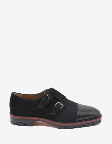 Christian Louboutin Mortimer X Sole Flat Monk Strap Shoes