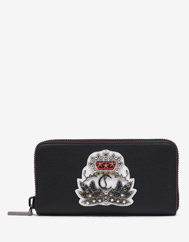 Christian Louboutin Panettone Black Leather Wallet with Crest