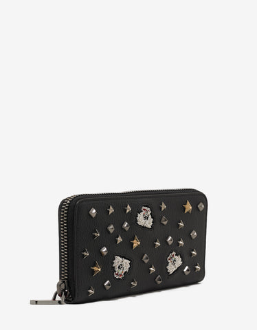 Christian Louboutin Panettone Black Loubacademy Trashmix Leather Wallet