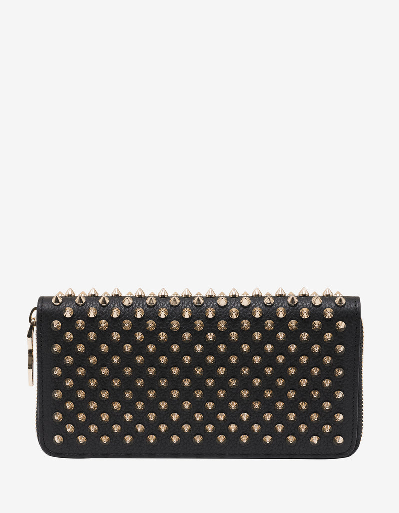 Panettone Black Wallet with Gold Spikes