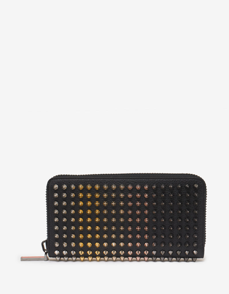 Panettone Black Wallet with Multicolour Spikes