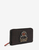 Panettone Ebony Croc Embossed Leather Wallet