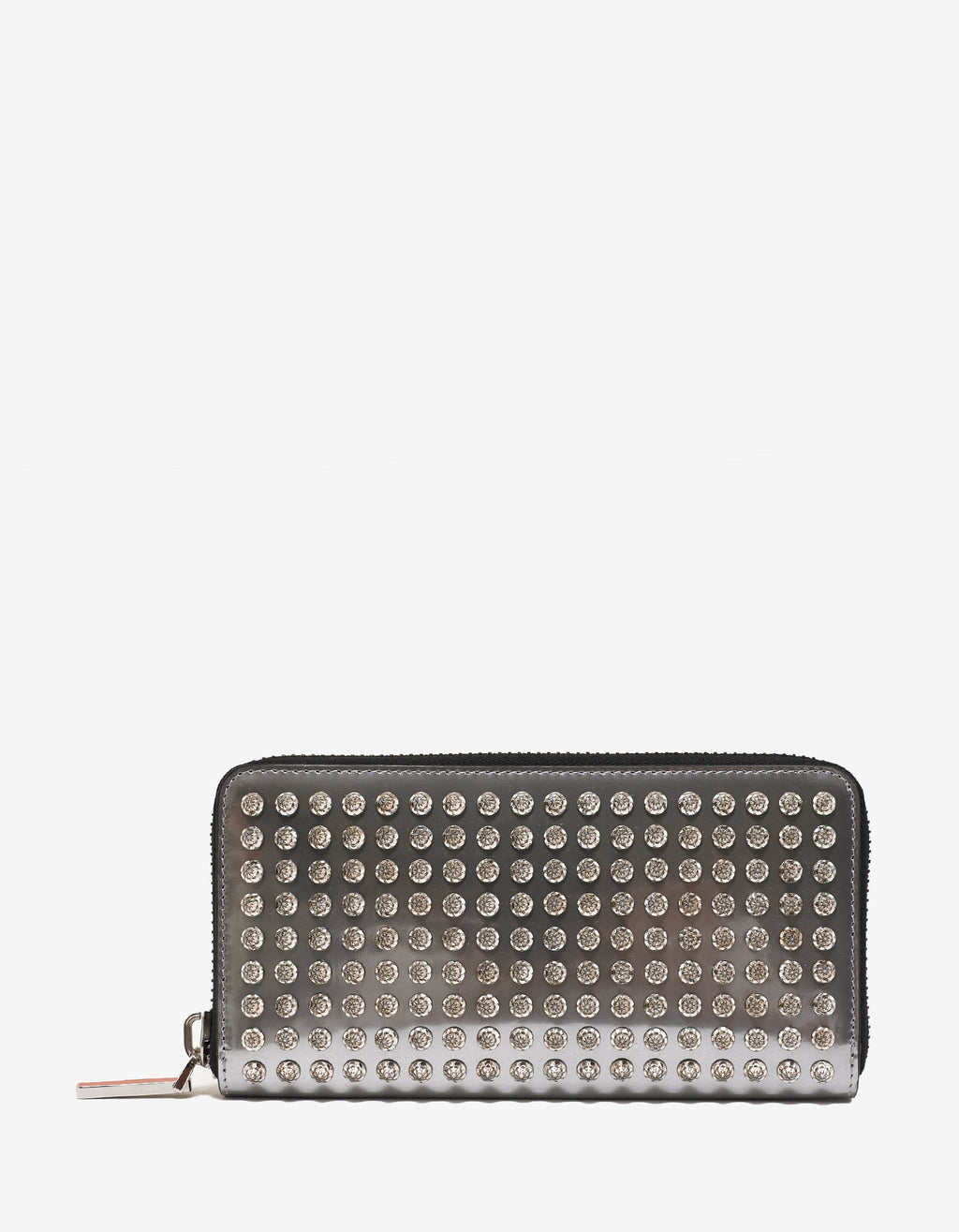 Panettone Silver Leather Diams Spikes Wallet