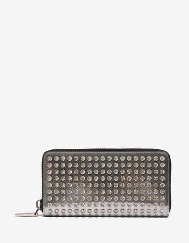 Christian Louboutin Panettone Silver Leather Diams Spikes Wallet