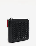 Panettone Square Black Leather Spikes Wallet