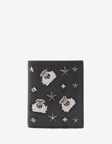 Christian Louboutin Paros Black Loubacademy Trashmix Studs Leather Wallet