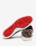 Pik Boat Flat Safari Python Leather Trainers