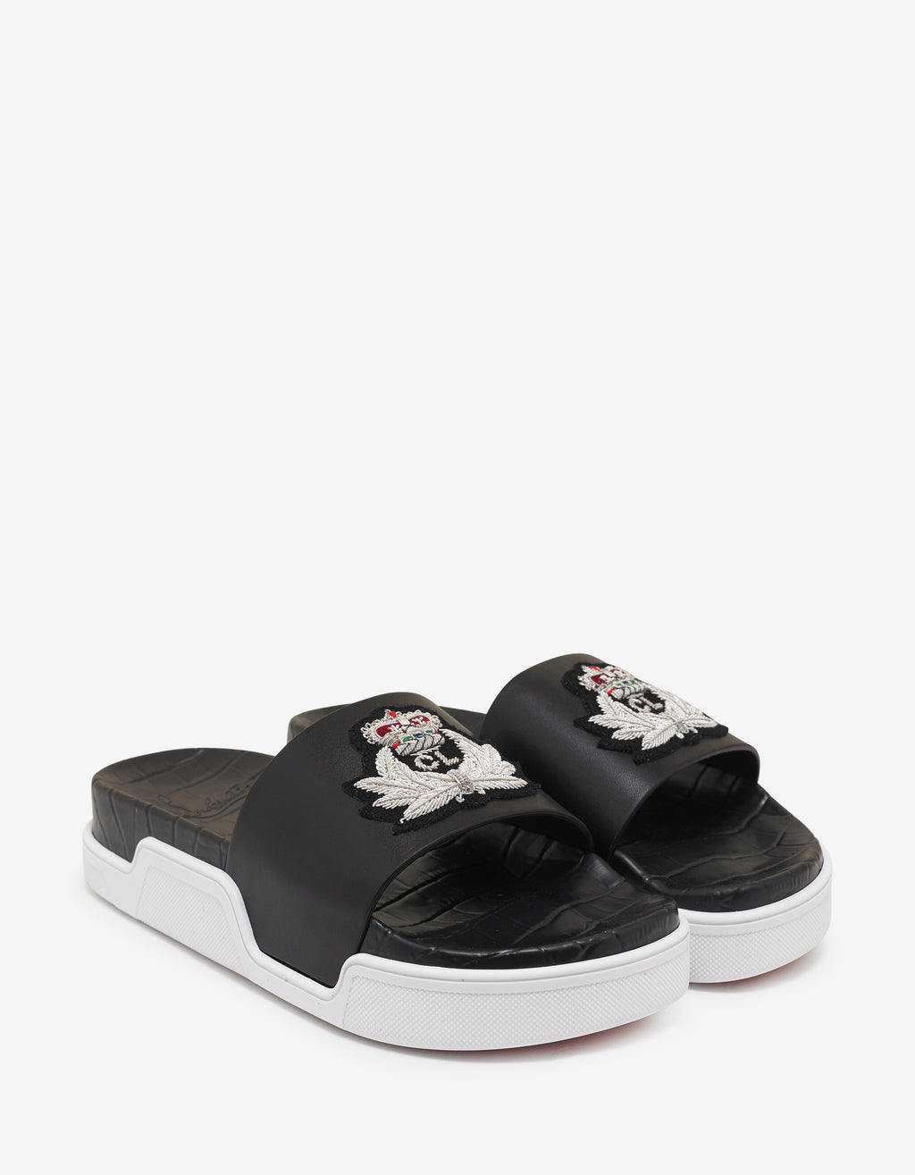 Pool Beau Flat Black Slide Sandals