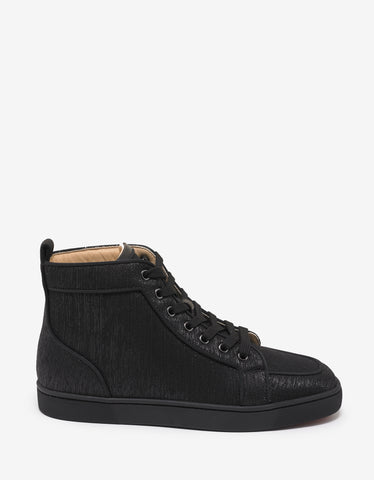 Christian Louboutin Rantus Orlato Flat Shantung Lurex High Top Trainers