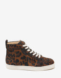 Rantus Orlato Leopard Print Pony Hair High Top Trainers