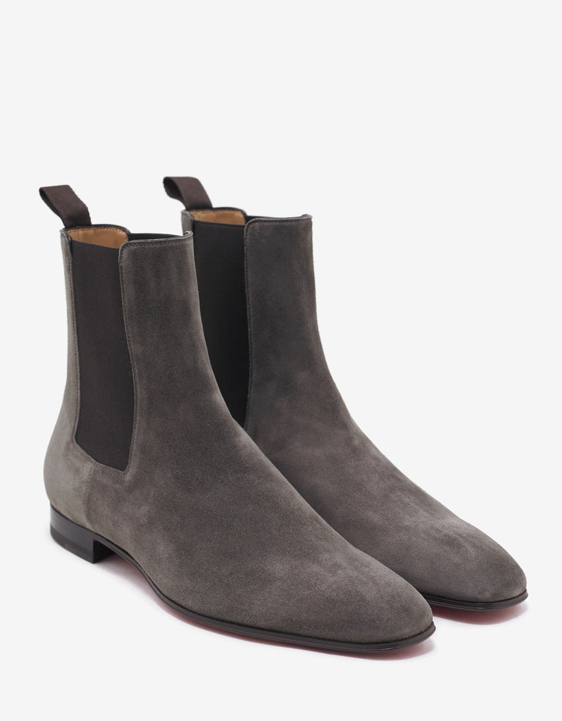 cheap for discount dfb90 3f189 Roadie Flat Roche Taupe Suede Chelsea Boots