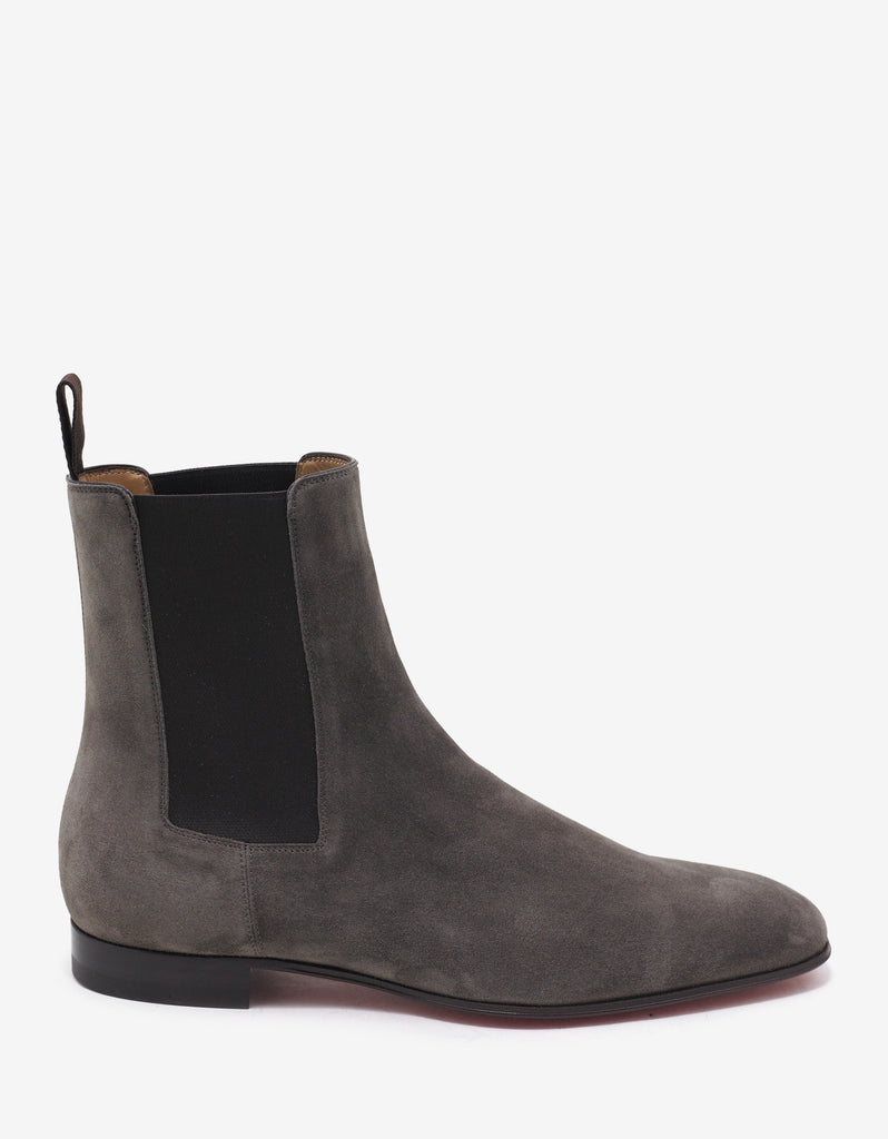 Roadie Flat Roche Taupe Suede Chelsea Boots