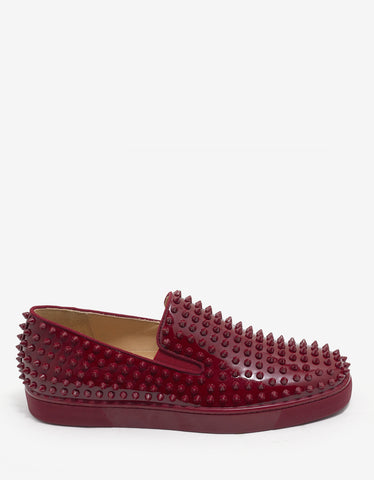 Christian Louboutin Roller-Boat Flat Carmin Red Patent Trainers