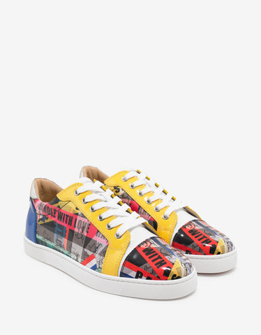 Christian Louboutin Seavaste Flat Loubiballage Patent Leather Trainers