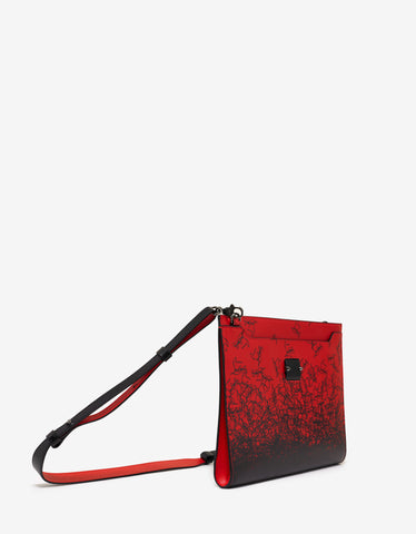 Christian Louboutin Skypouch Red Degraloubi Print Bag