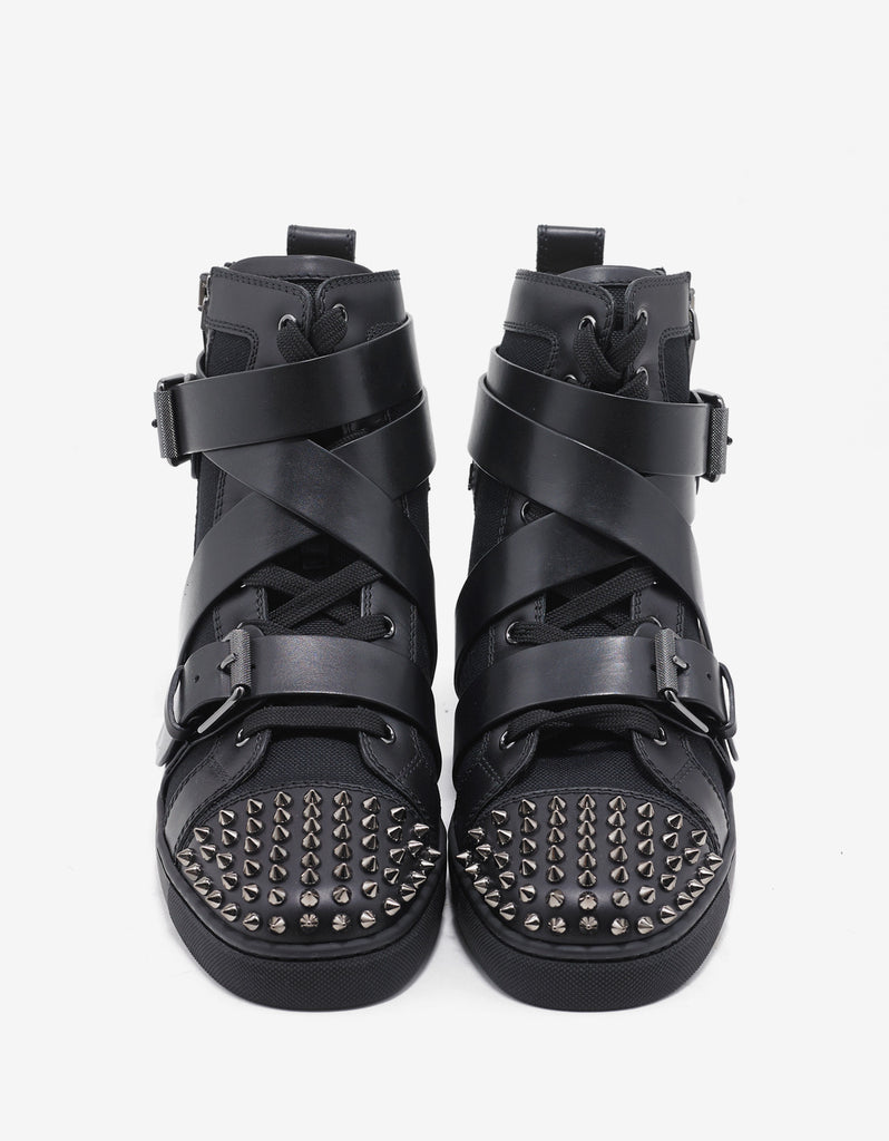 Snap Shoot Spikes Flat High Top Trainers