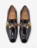 Souledrapo Flat Black Patent Leather Loafers