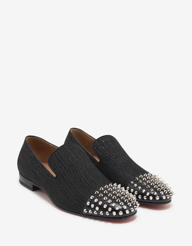 Christian Louboutin Spooky Suede Leather Crosta Shower Loafers