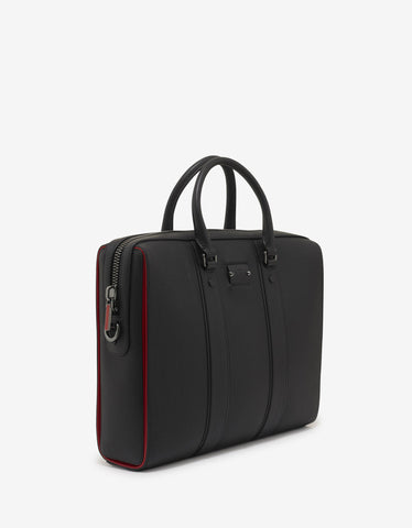Christian Louboutin Streetwall Black Leather Briefcase