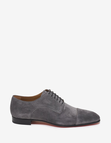 Christian Louboutin Top Daviol Flat Suede Leather Derby Shoes