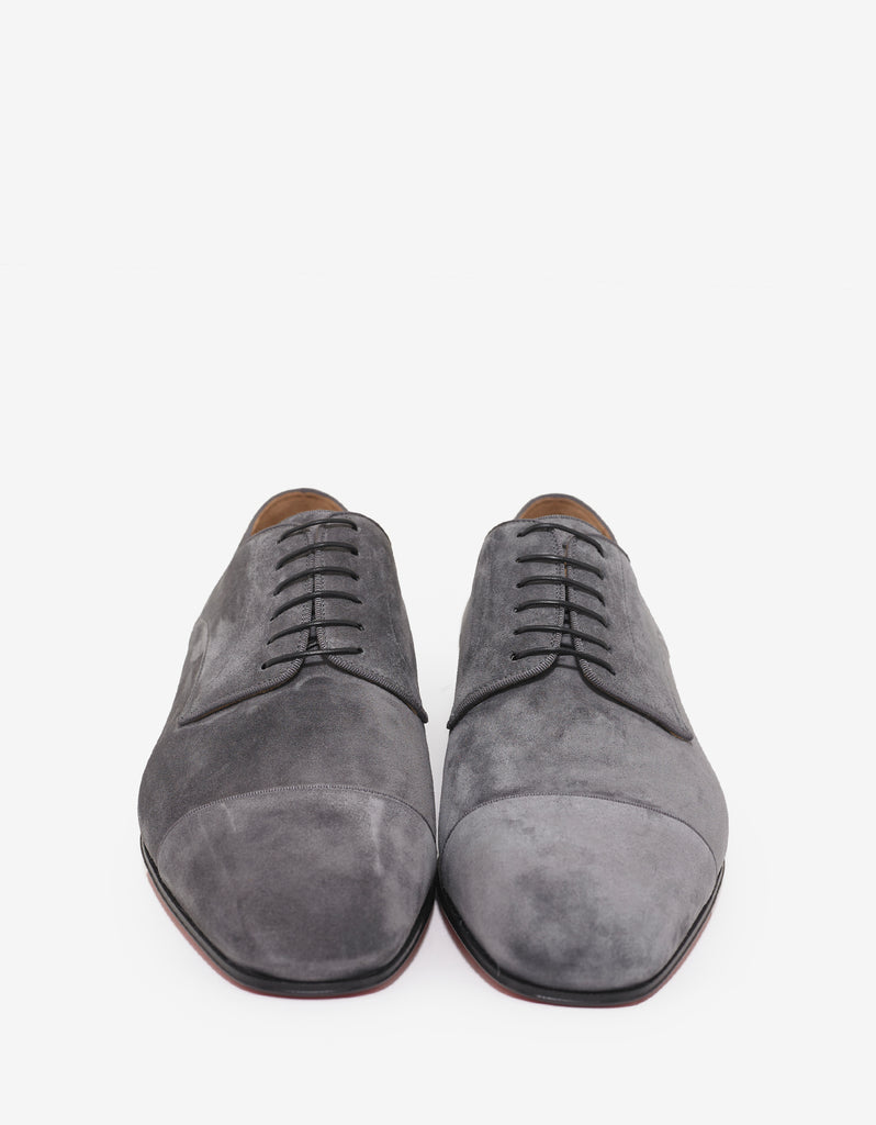 Top Daviol Flat Suede Leather Derby Shoes