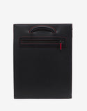 Trictrac Large Black Leather Spikes Portfolio