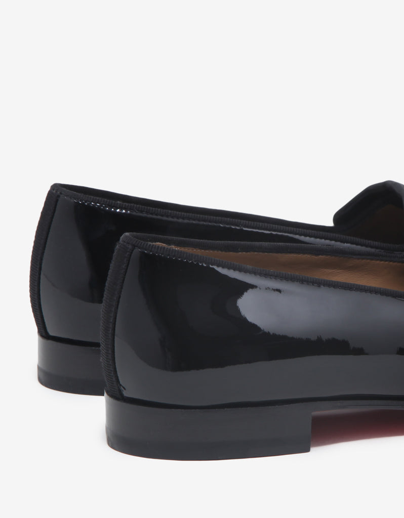 Vittorio Flat Black Patent Leather Loafers