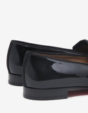 Vittorio Flat Black Patent Leather Loafers -