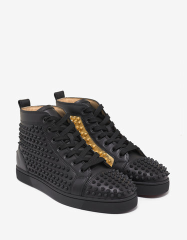 Yang Louis Flat High Top Trainers with Gold Panel