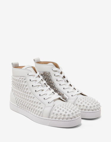 Christian Louboutin Yang Louis Flat High Top Trainers with Silver Panel