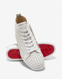 Yang Louis Flat High Top Trainers with Silver Panel