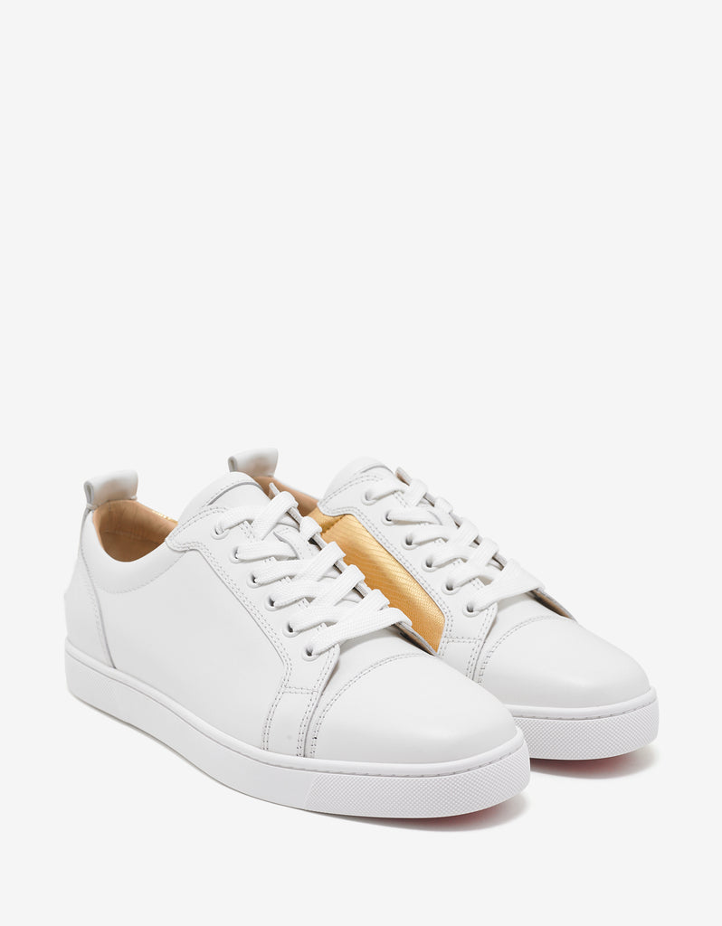 7042d8bb4eeb Christian Louboutin Yang Louis Junior Latte   Gold Trainers ...