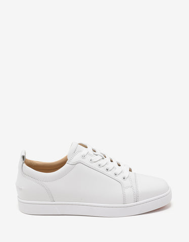 Christian Louboutin Yang Louis Junior Latte & Gold Trainers