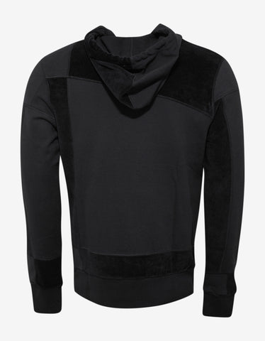 Christopher Raeburn Black Jersey Mix Hoodie
