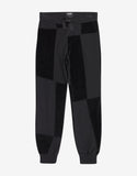 Black Jersey Mix Sweat Pants