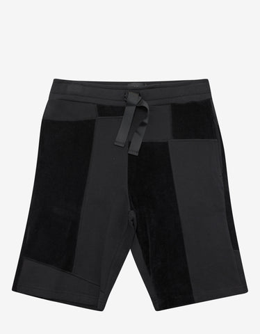 Christopher Raeburn Black Jersey Mix Sweat Shorts