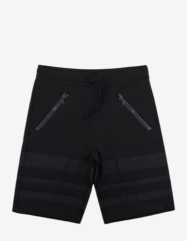 Christopher Raeburn Black Jogger Shorts with Grosgrain Bands