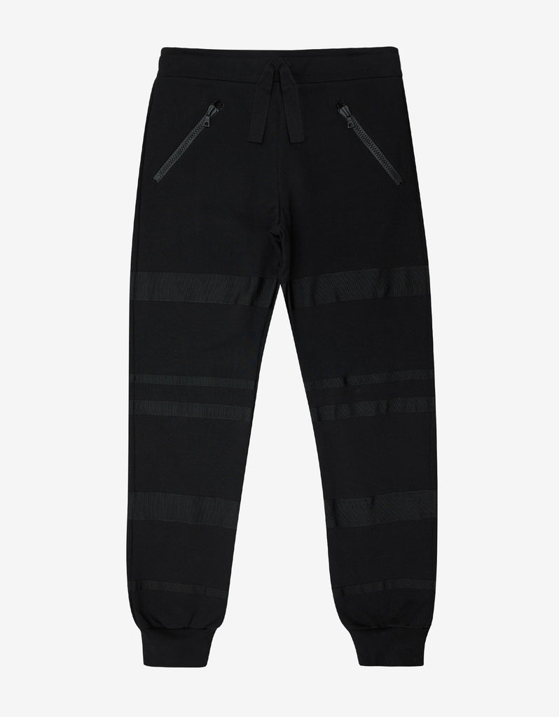 Black Joggers with Grosgrain Bands