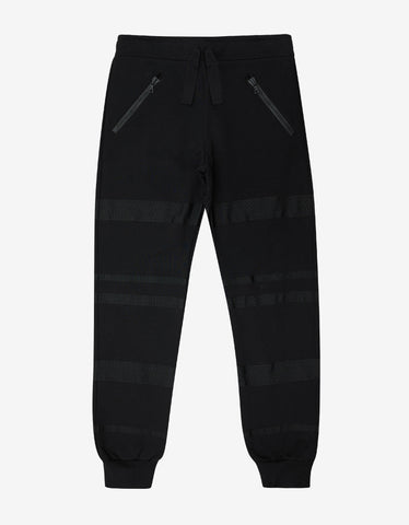 Christopher Raeburn Black Joggers with Grosgrain Bands