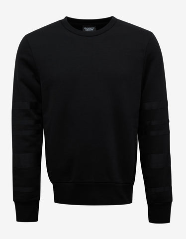 Christopher Raeburn Black Sweatshirt with Grosgrain Bands
