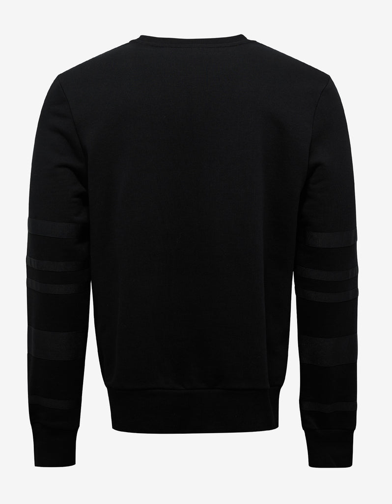 Black Sweatshirt with Grosgrain Bands