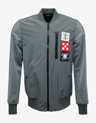 Christopher Raeburn Grey Taped Mesh Bomber Jacket