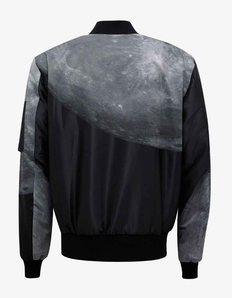 Moon Print Reversible Bomber Jacket
