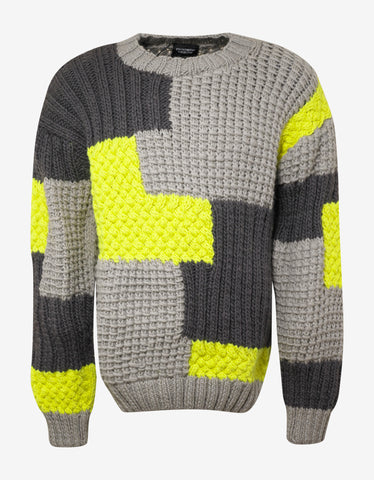 Christopher Raeburn Patchwork Hard Knit Wool Sweater