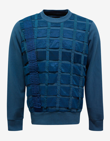Christopher Raeburn Remade Airbrake Teal Blue Sweatshirt